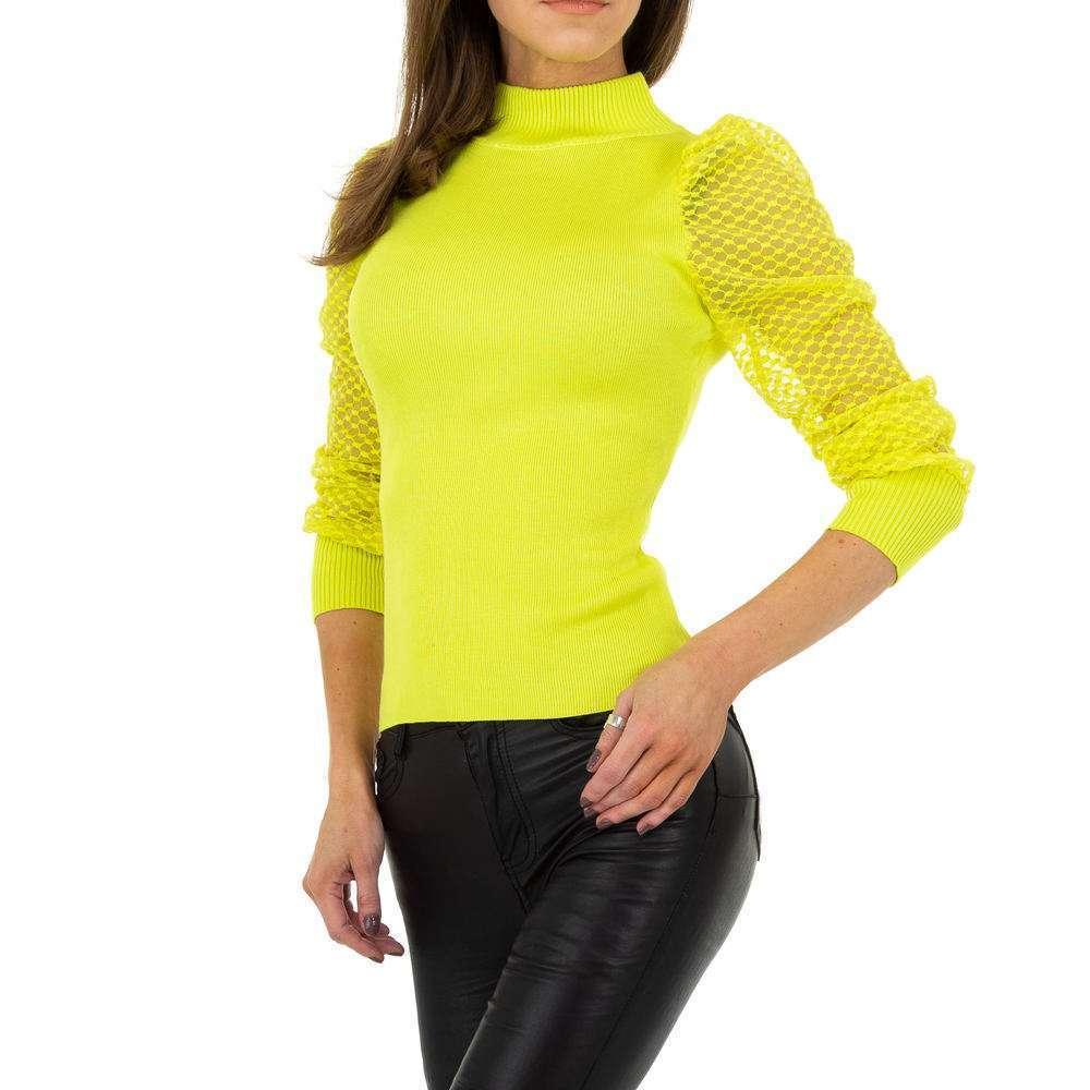 Pulover pentru femei de Drole de Copine Gr. O mărime - galben - image 4