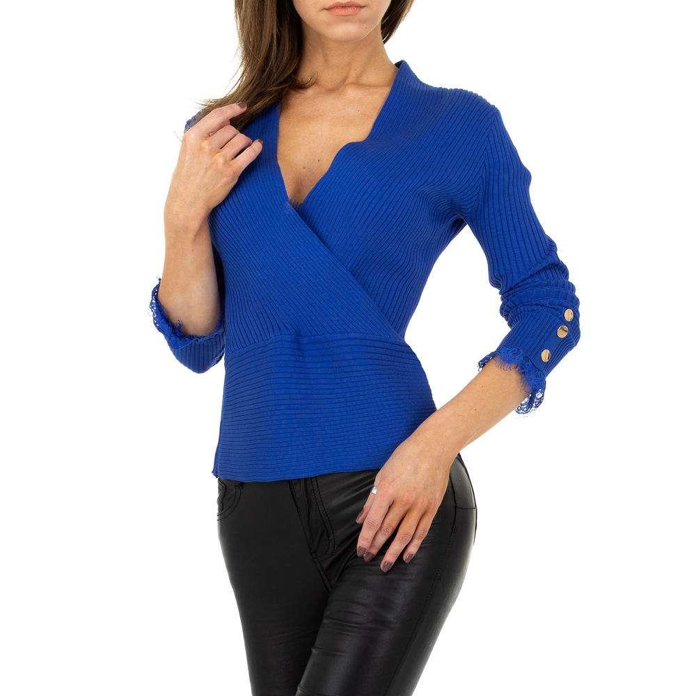 Pulover pentru femei de la Drole de Copine - albastru - image 4
