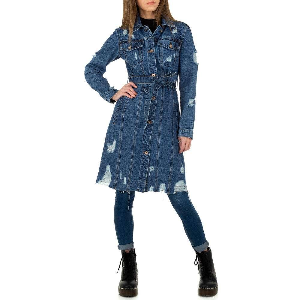 Palton de dama de Laulia - albastru