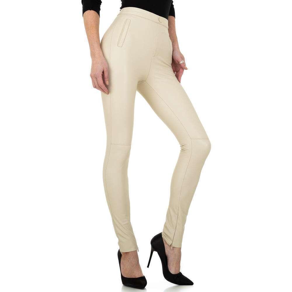 Pantaloni de dama Daysie - crem