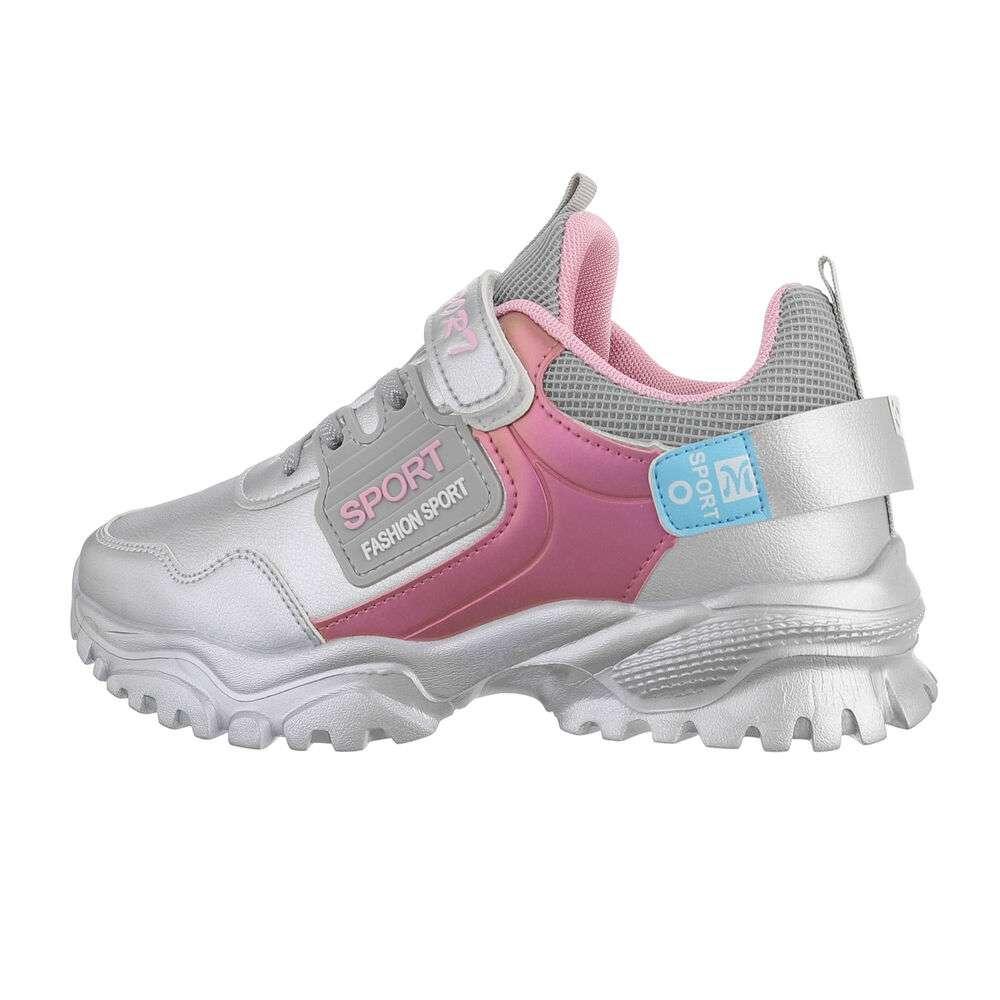 Chaussures décontractées pour enfants - argentées
