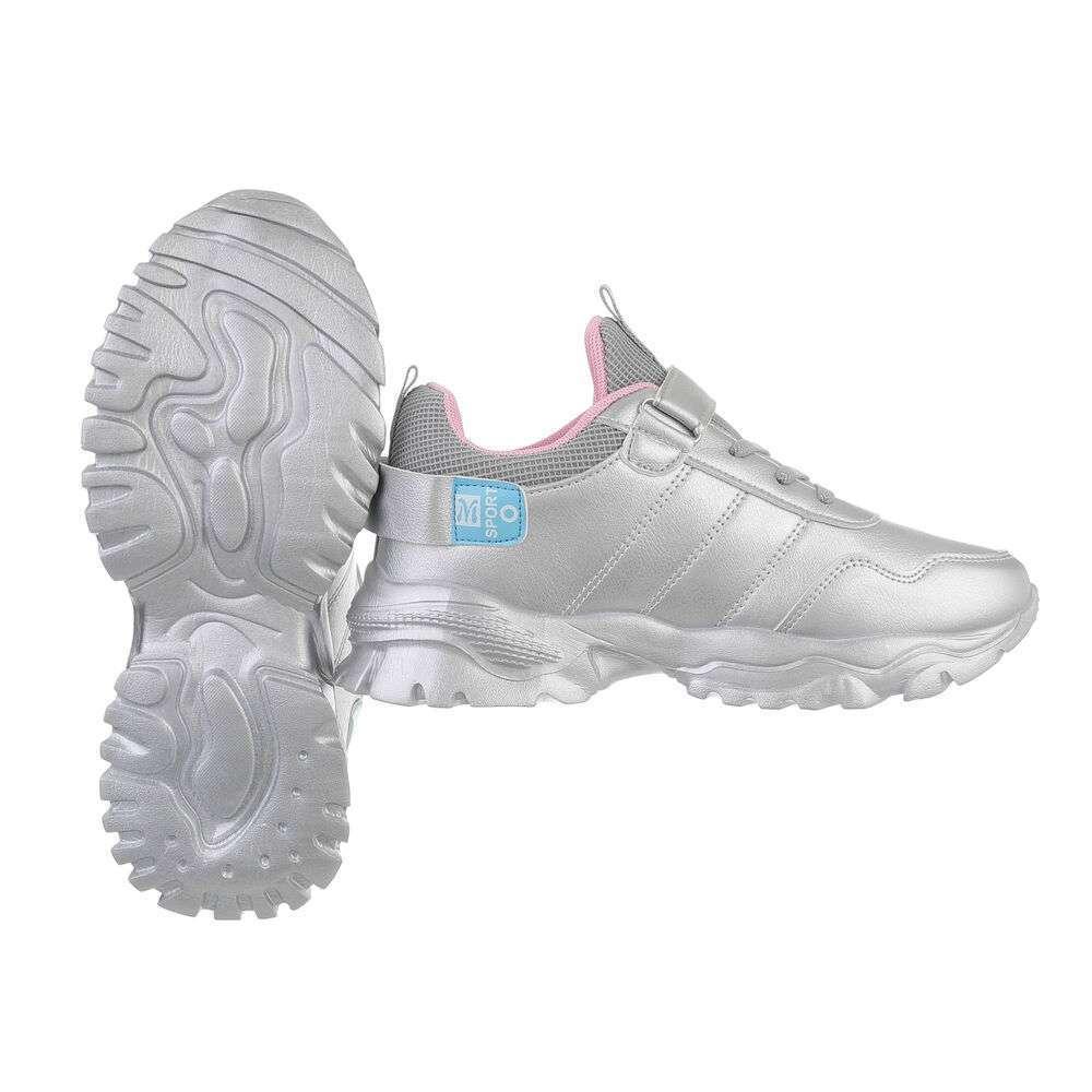 Pantofi casual pentru copii - argintii - image 2