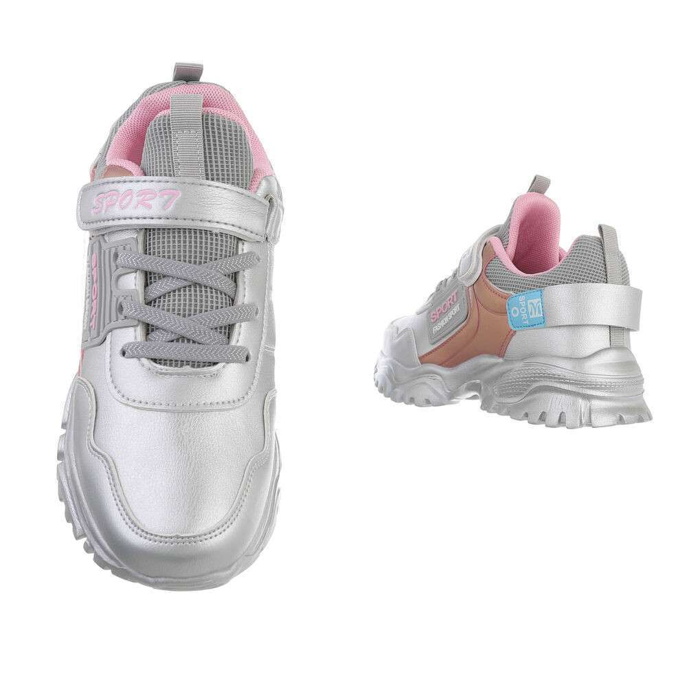 Pantofi casual pentru copii - argintii - image 3