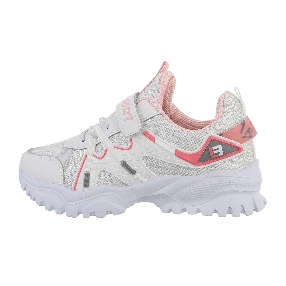 Pantofi casual pentru copii - albi - image 1