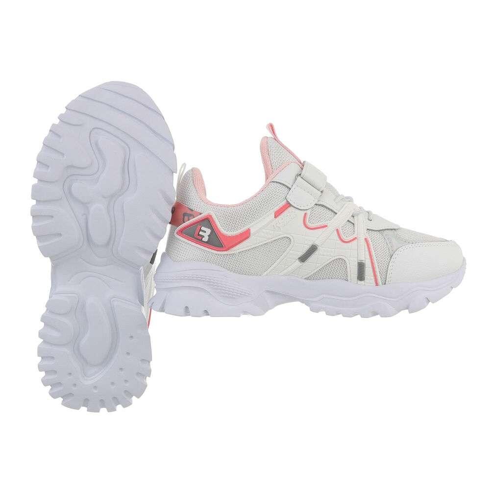 Pantofi casual pentru copii - albi - image 2
