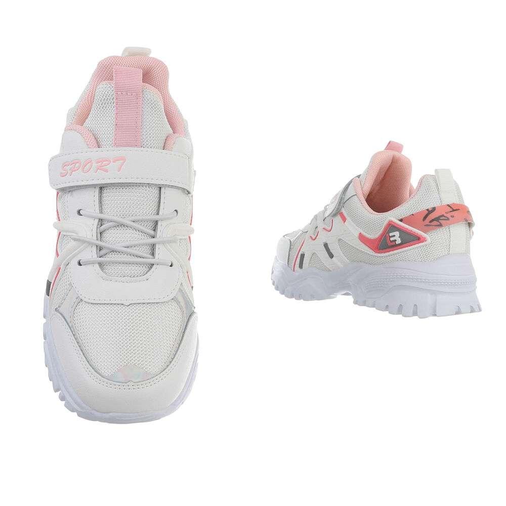 Pantofi casual pentru copii - albi - image 3