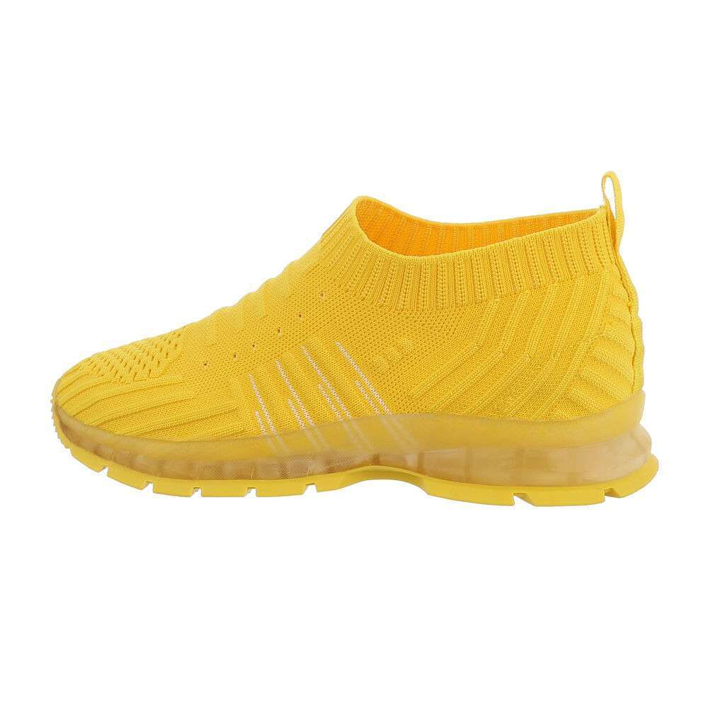 Pantofi casual pentru copii - galben-alb
