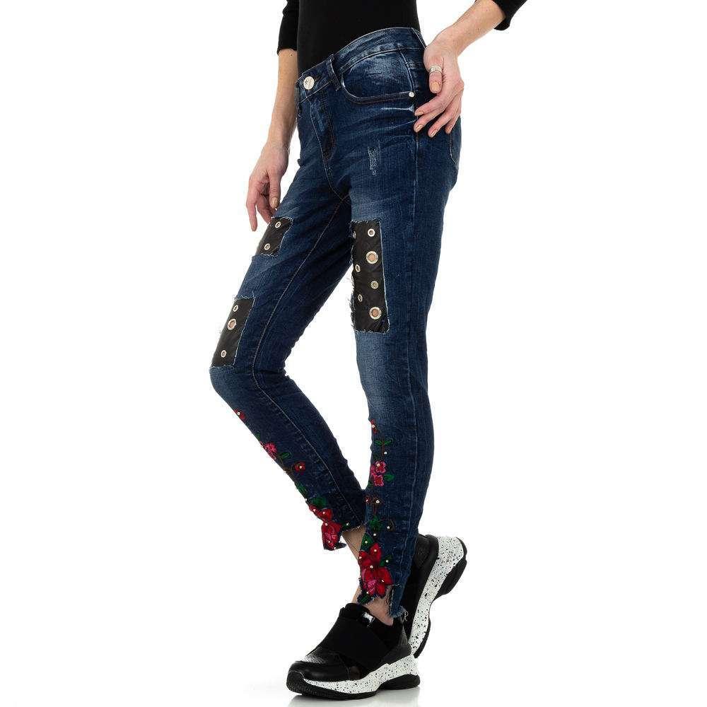 Blugi skinny pentru femei de la Denim Original - albastru - image 2