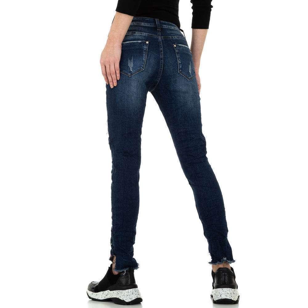 Blugi skinny pentru femei de la Denim Original - albastru - image 3