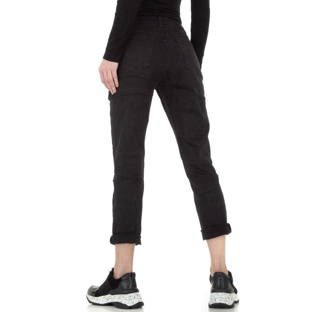 Blugi pentru femei cu picioare drepte de la Denim Life - negru - image 3