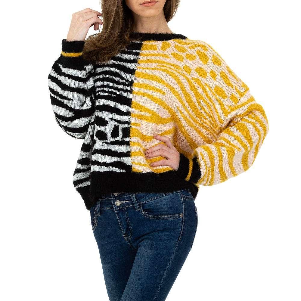 Pulover tricotat pentru femei de JCL Gr. O singură mărime - galben-negru - image 1