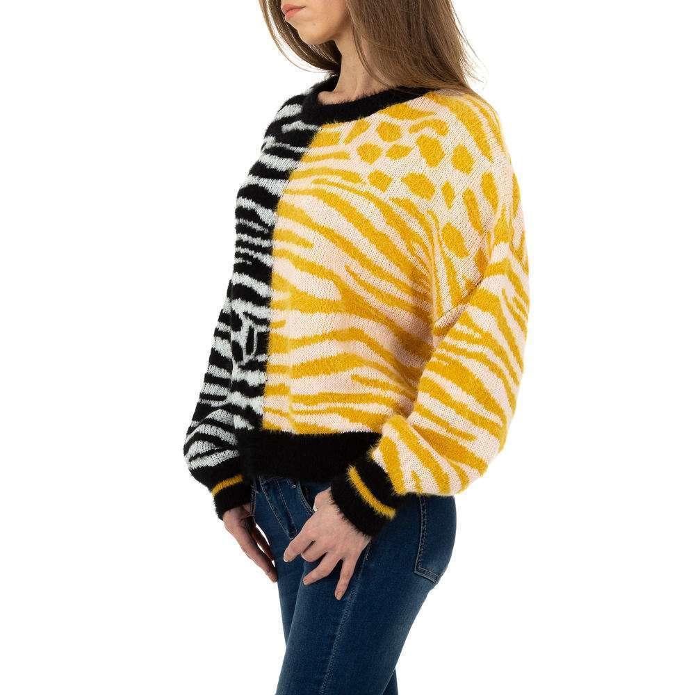 Pulover tricotat pentru femei de JCL Gr. O singură mărime - galben-negru - image 2