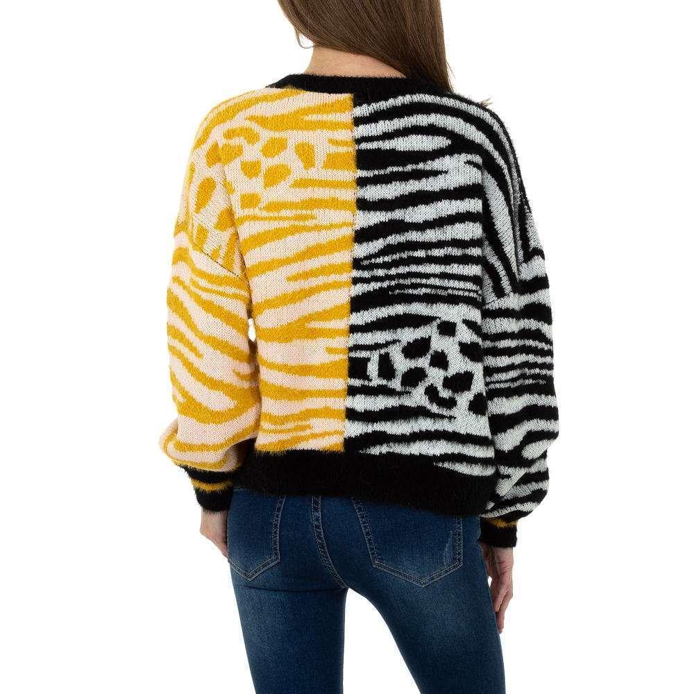 Pulover tricotat pentru femei de JCL Gr. O singură mărime - galben-negru - image 3
