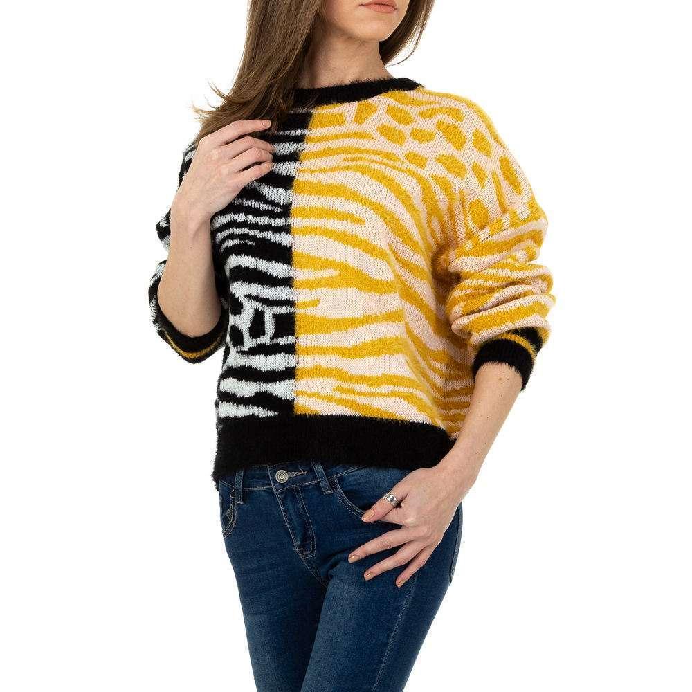 Pulover tricotat pentru femei de JCL Gr. O singură mărime - galben-negru - image 4