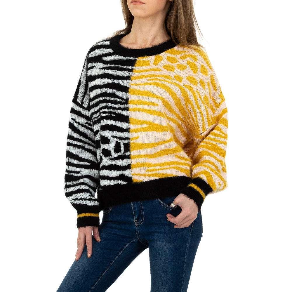 Pulover tricotat pentru femei de JCL Gr. O singură mărime - galben-negru - image 5