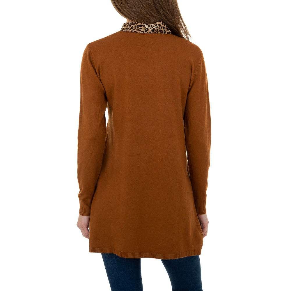 Pulover lung pentru femei de CMP55 Gr. O mărime - maro - image 3