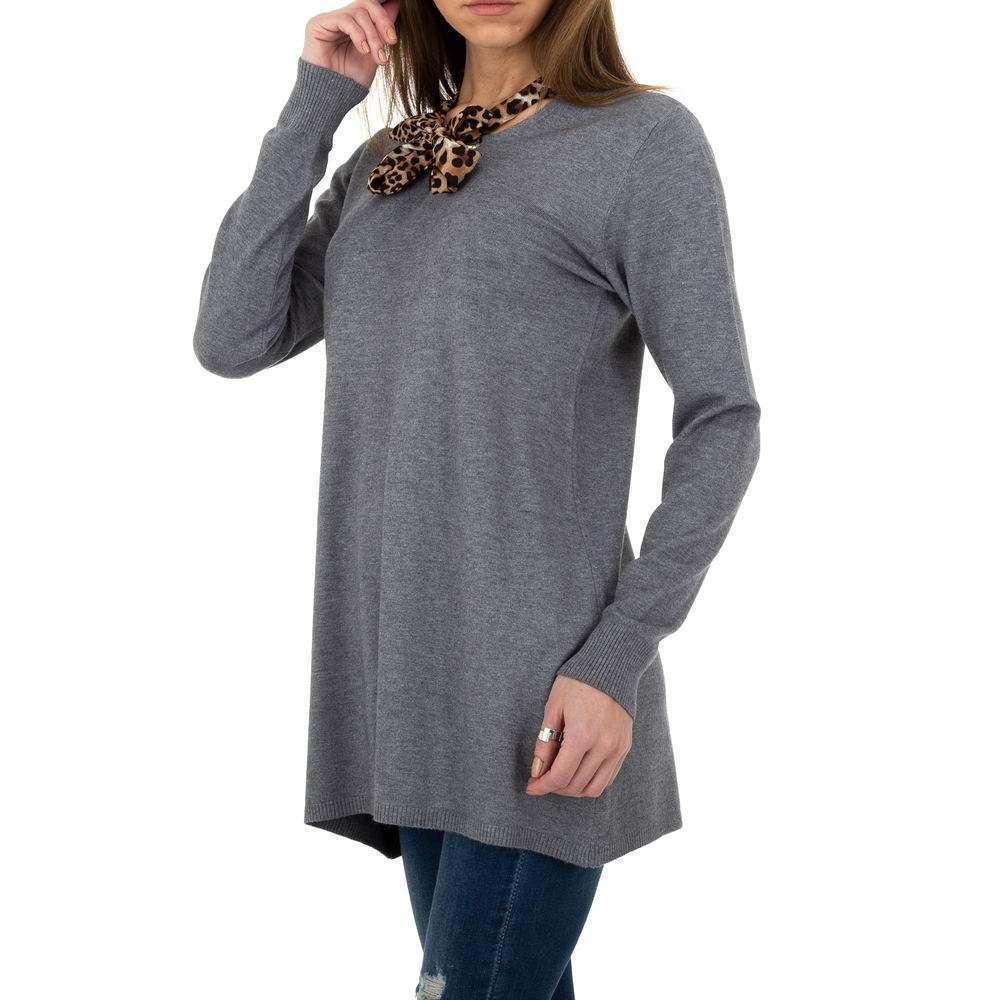 Pulover lung pentru femei de CMP55 Gr. O singură mărime - gri - image 2