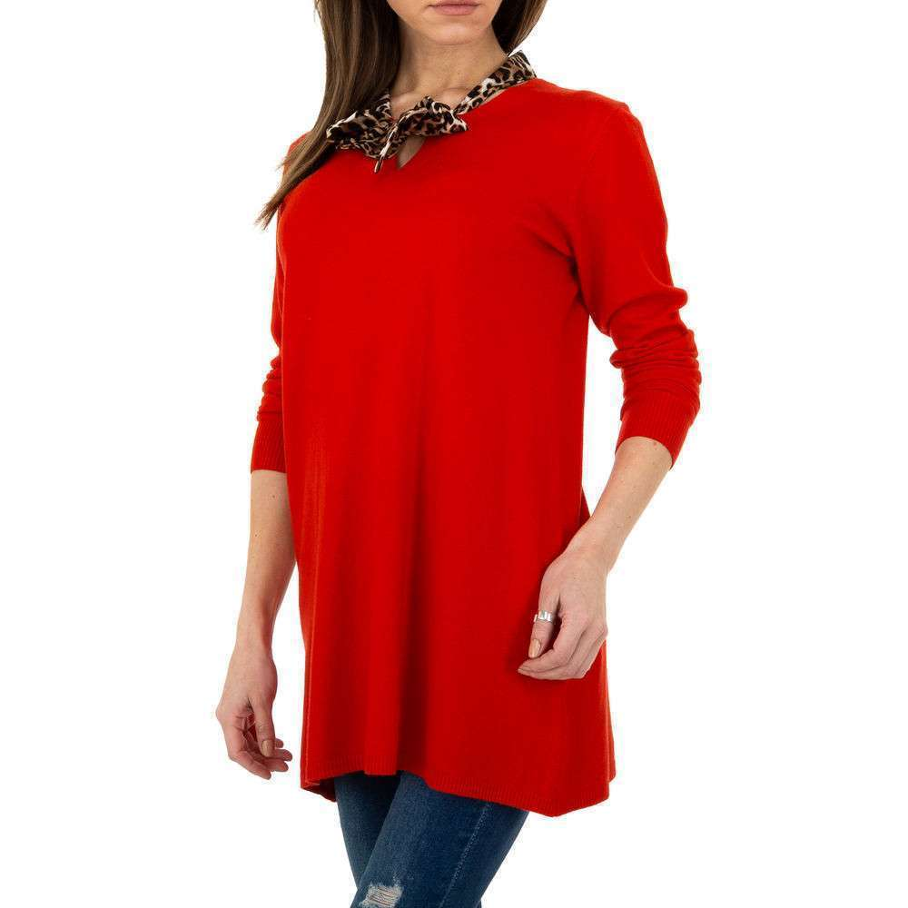Pulover lung pentru femei de CMP55 Gr. O singură mărime - roșu