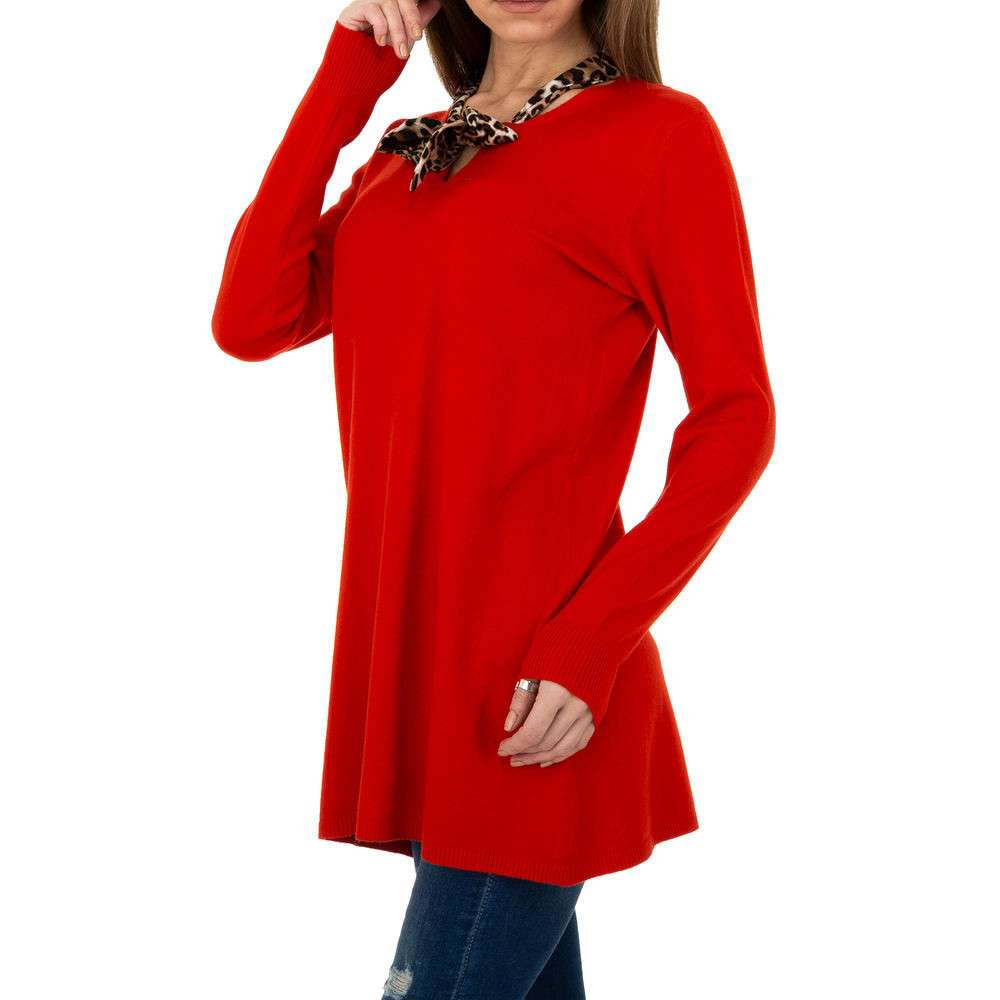 Pulover lung pentru femei de CMP55 Gr. O singură mărime - roșu - image 2