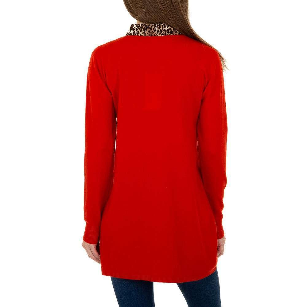 Pulover lung pentru femei de CMP55 Gr. O singură mărime - roșu - image 3