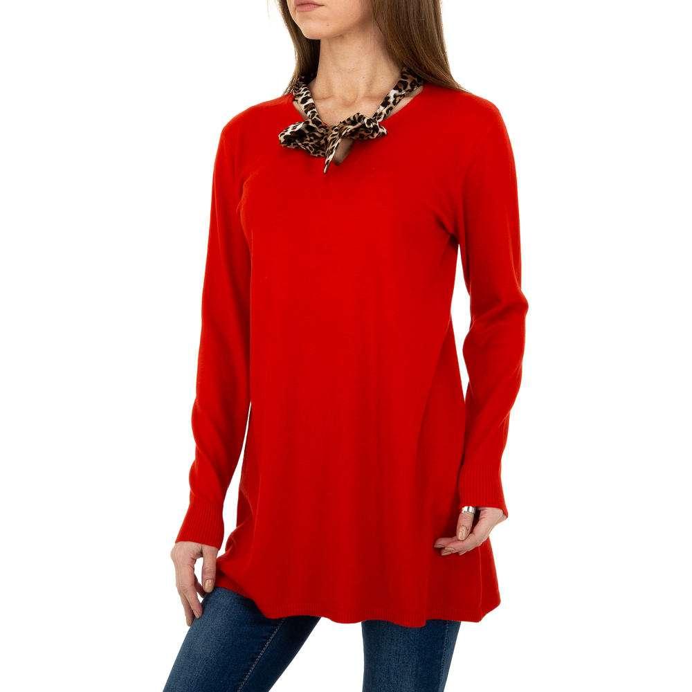 Pulover lung pentru femei de CMP55 Gr. O singură mărime - roșu - image 4