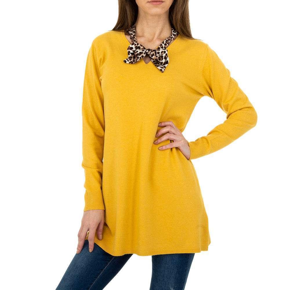Pulover lung pentru femei de CMP55 Gr. O mărime - galben