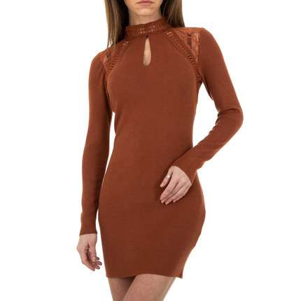 Damen Strickkleid von Whoo Fashion Gr. One Size - brown