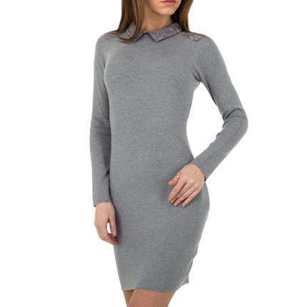 Damen Strickkleid von Whoo Fashion Gr. One Size - grey