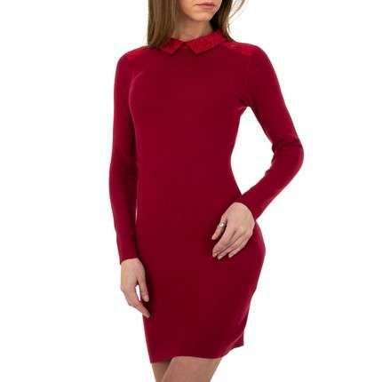 Damen Strickkleid von Whoo Fashion Gr. One Size - red