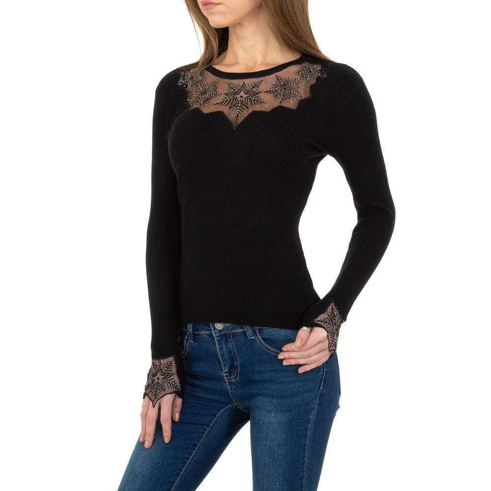 Pulover tricotat pentru femei de la Whoo Fashion Gr. O singură mărime - negru - image 1