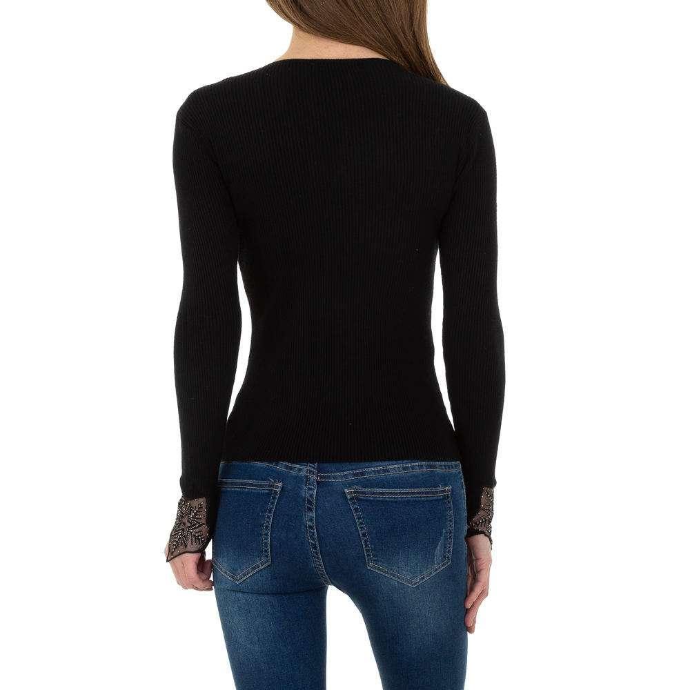 Pulover tricotat pentru femei de la Whoo Fashion Gr. O singură mărime - negru - image 3