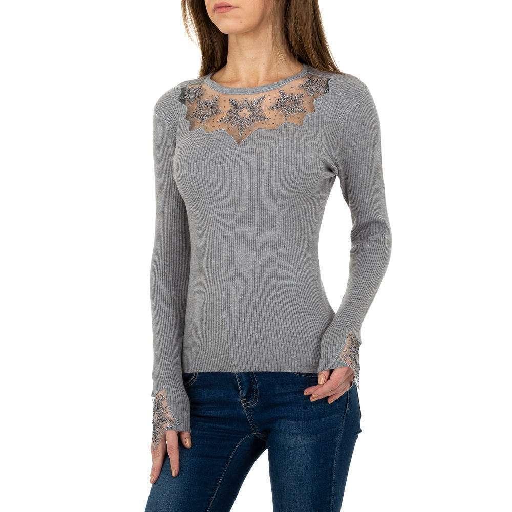 Pulover tricotat pentru femei de la Whoo Fashion Gr. O singură mărime - gri