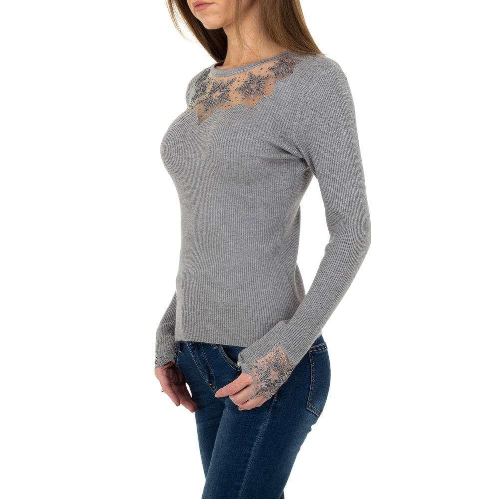 Pulover tricotat pentru femei de la Whoo Fashion Gr. O singură mărime - gri - image 2