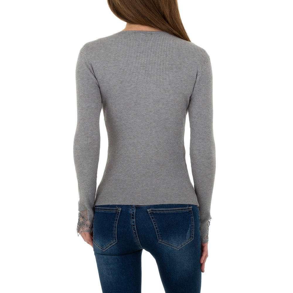 Pulover tricotat pentru femei de la Whoo Fashion Gr. O singură mărime - gri - image 3