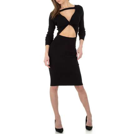 Damen Strickkleid von Whoo Fashion Gr. One Size - black