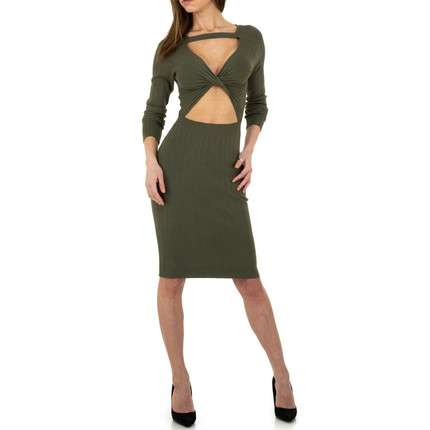 Damen Strickkleid von Whoo Fashion Gr. One Size - green
