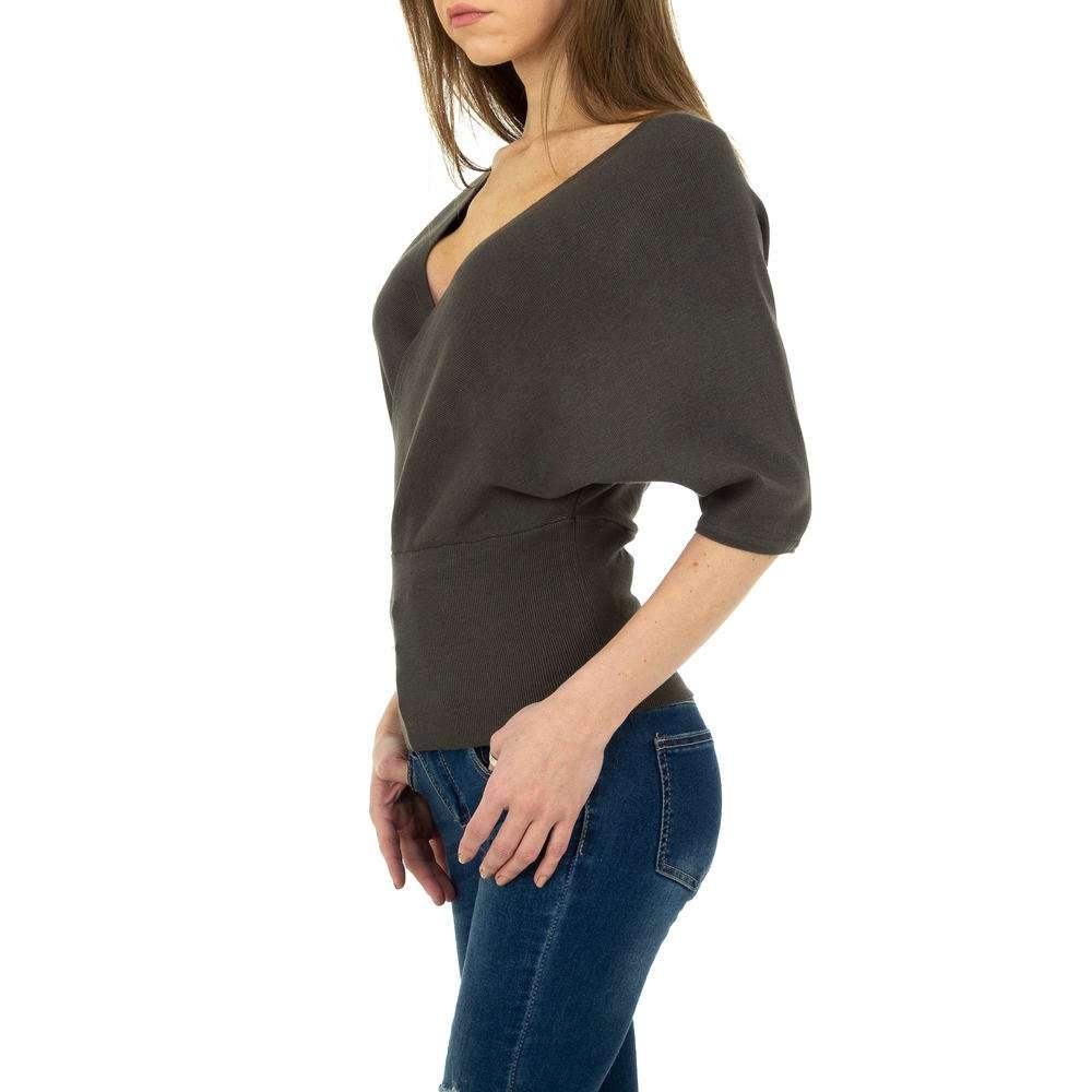 Pulover tricotat pentru femei de la Whoo Fashion Gr. O singură mărime - gri inchis - image 2
