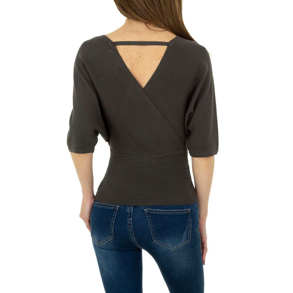 Pulover tricotat pentru femei de la Whoo Fashion Gr. O singură mărime - gri inchis - image 3