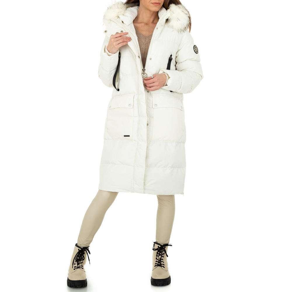 Palton de iarnă pentru femei de la Glo storye - alb