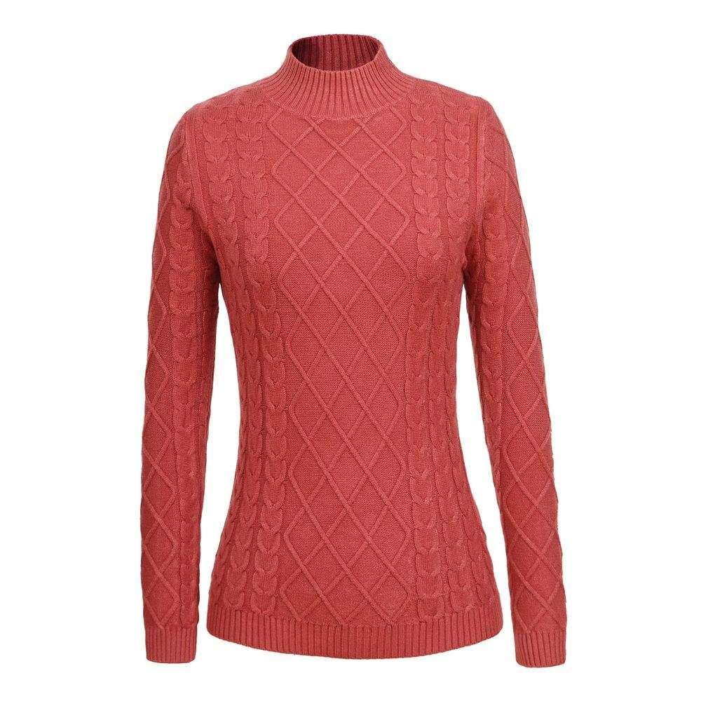 Pulover tricotat pentru femei de Glo storye - deschis  roz - image 1