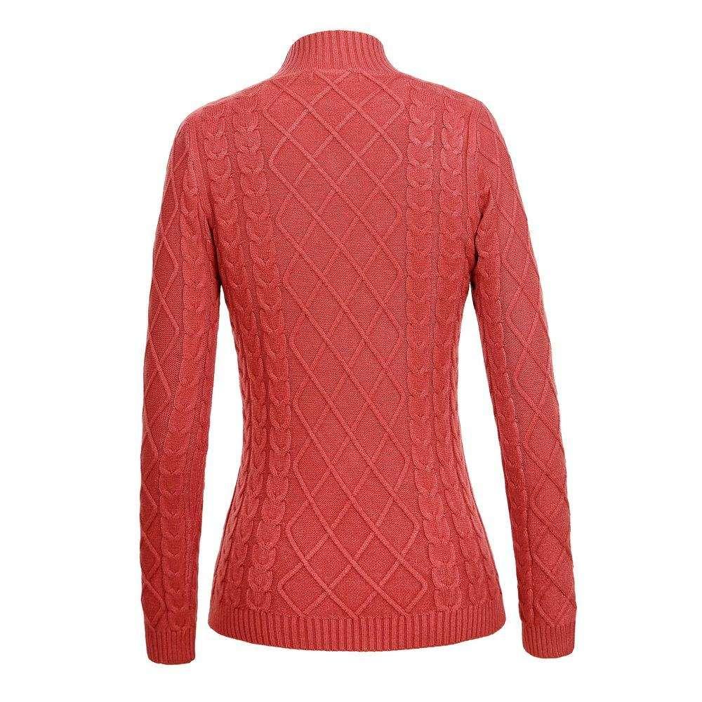 Pulover tricotat pentru femei de Glo storye - deschis  roz - image 2
