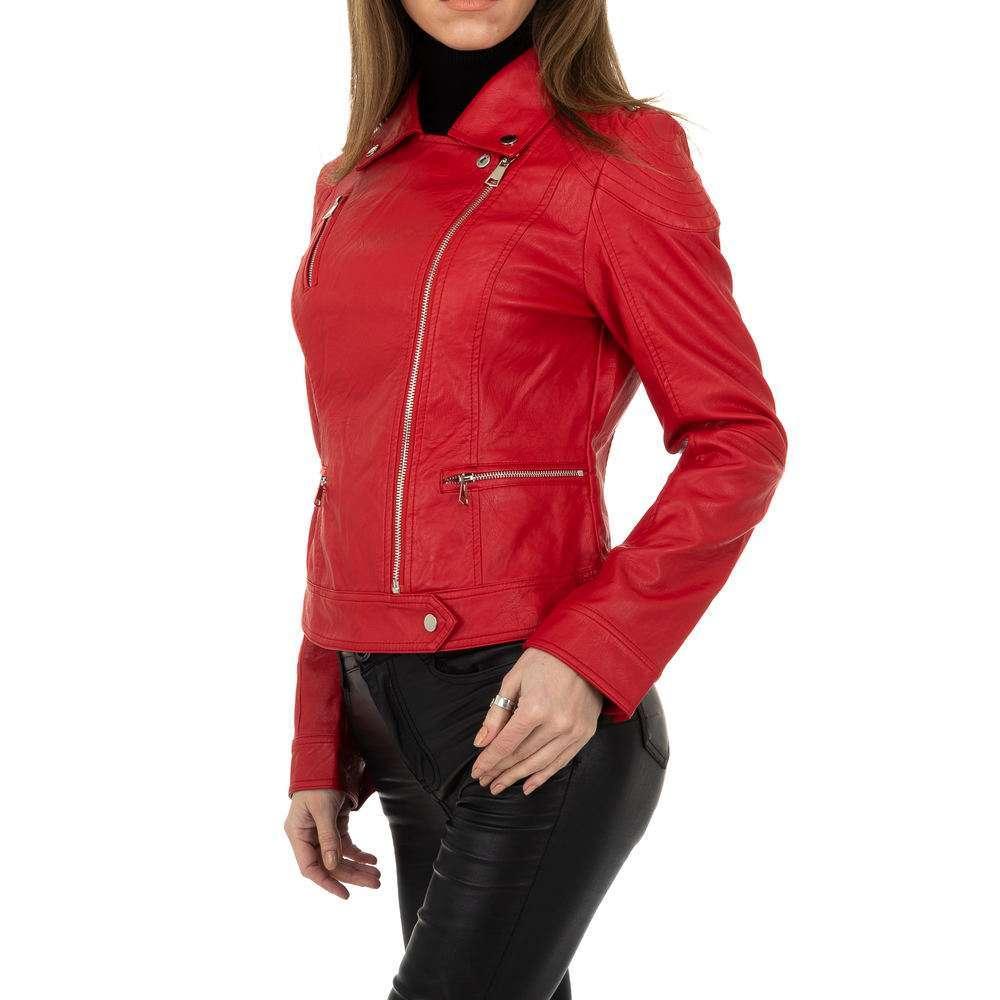 Geacă biker pentru femei de la Glo storye - roșie - image 2