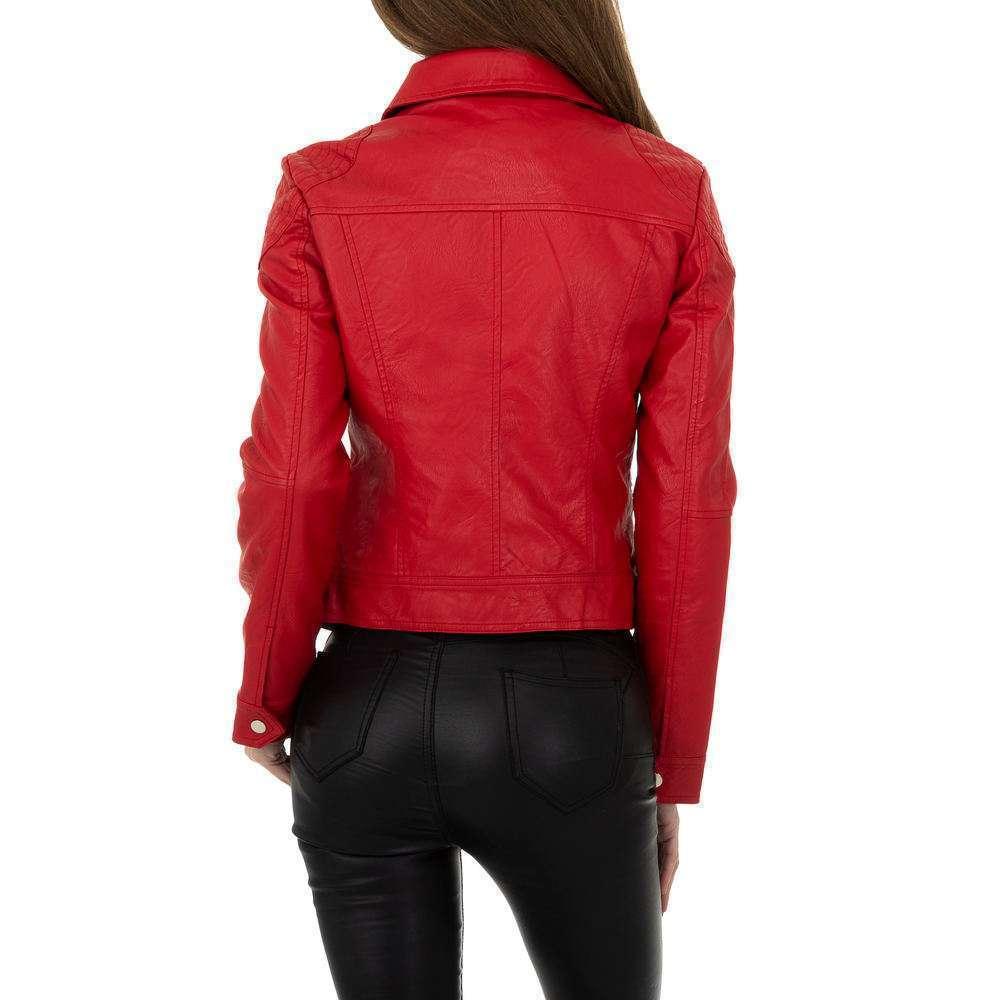 Geacă biker pentru femei de la Glo storye - roșie - image 3