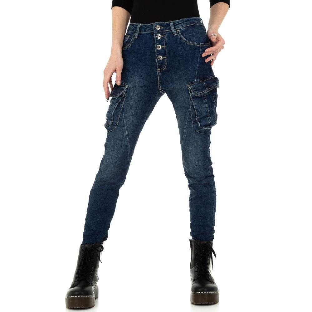 Blugi skinny pentru femei de Place du Jour - albastru - image 1