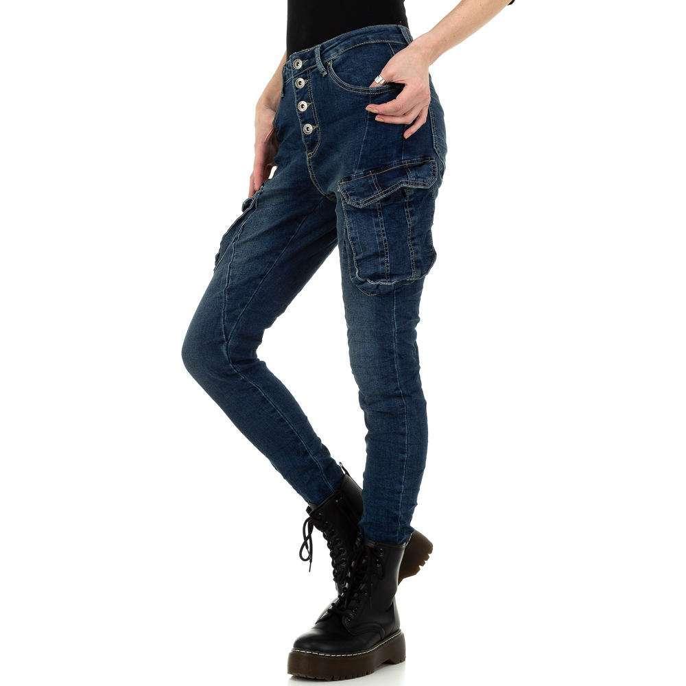 Blugi skinny pentru femei de Place du Jour - albastru - image 2