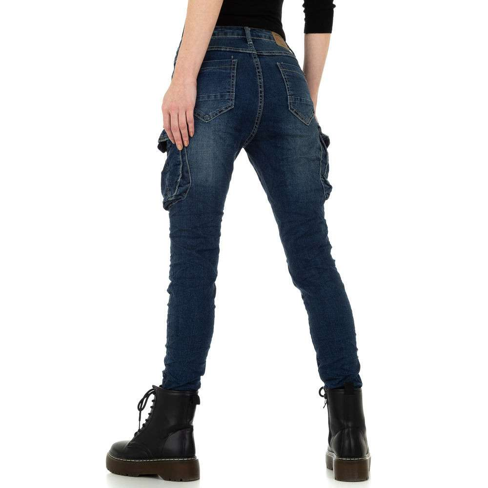 Blugi skinny pentru femei de Place du Jour - albastru - image 3