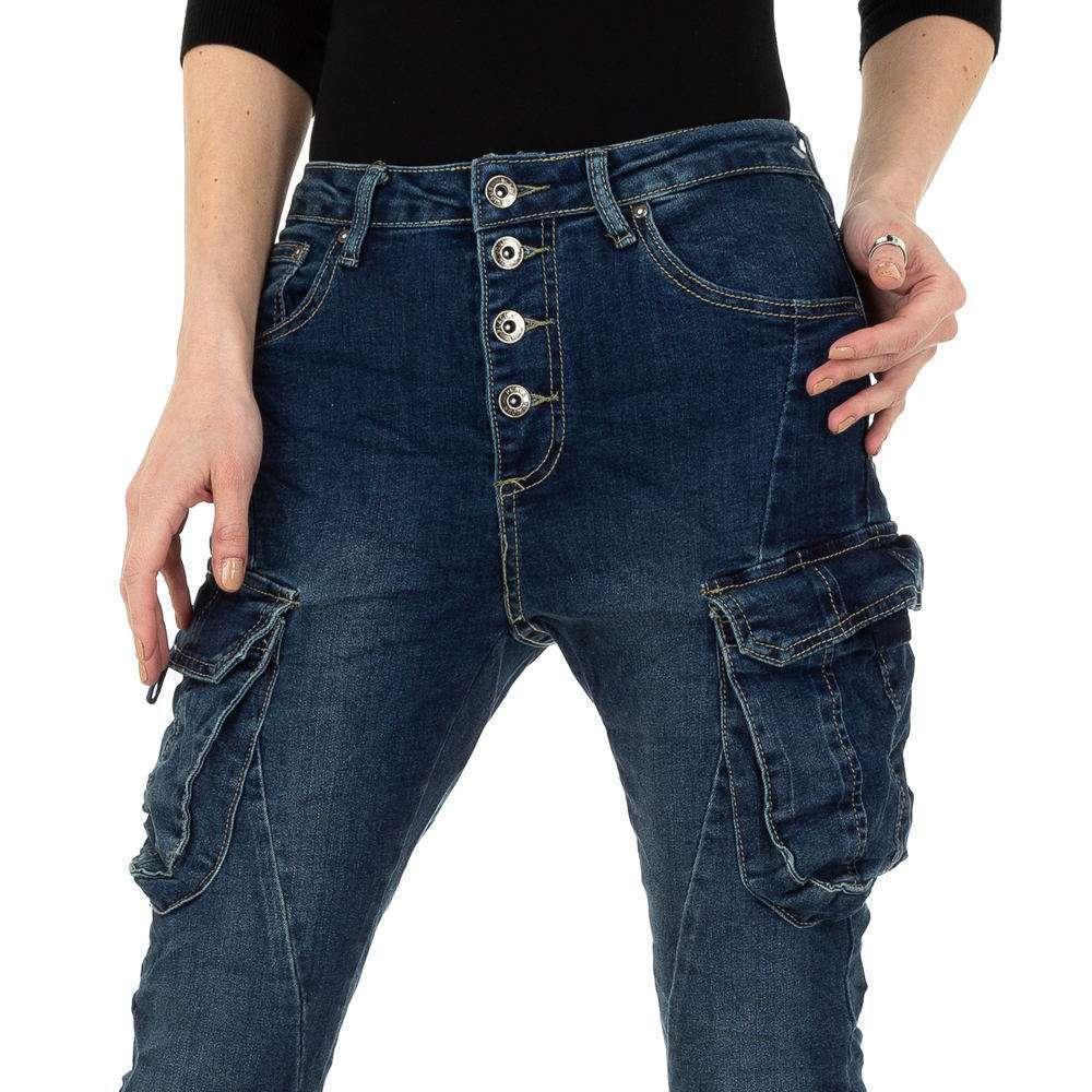 Blugi skinny pentru femei de Place du Jour - albastru - image 4