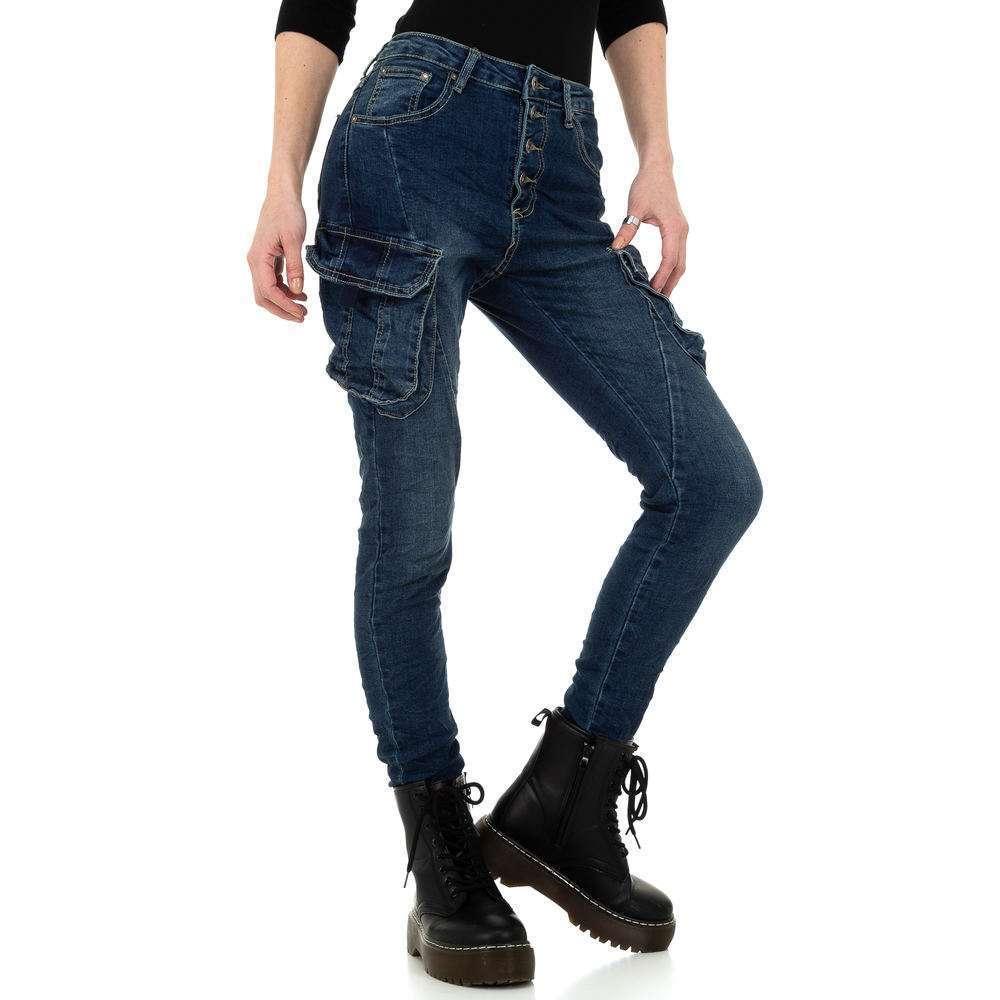 Blugi skinny pentru femei de Place du Jour - albastru - image 5