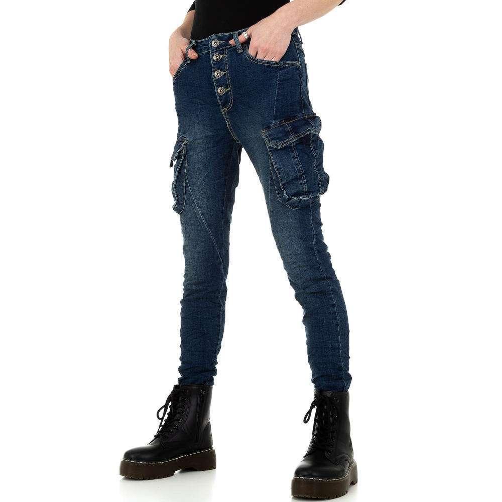 Blugi skinny pentru femei de Place du Jour - albastru - image 6