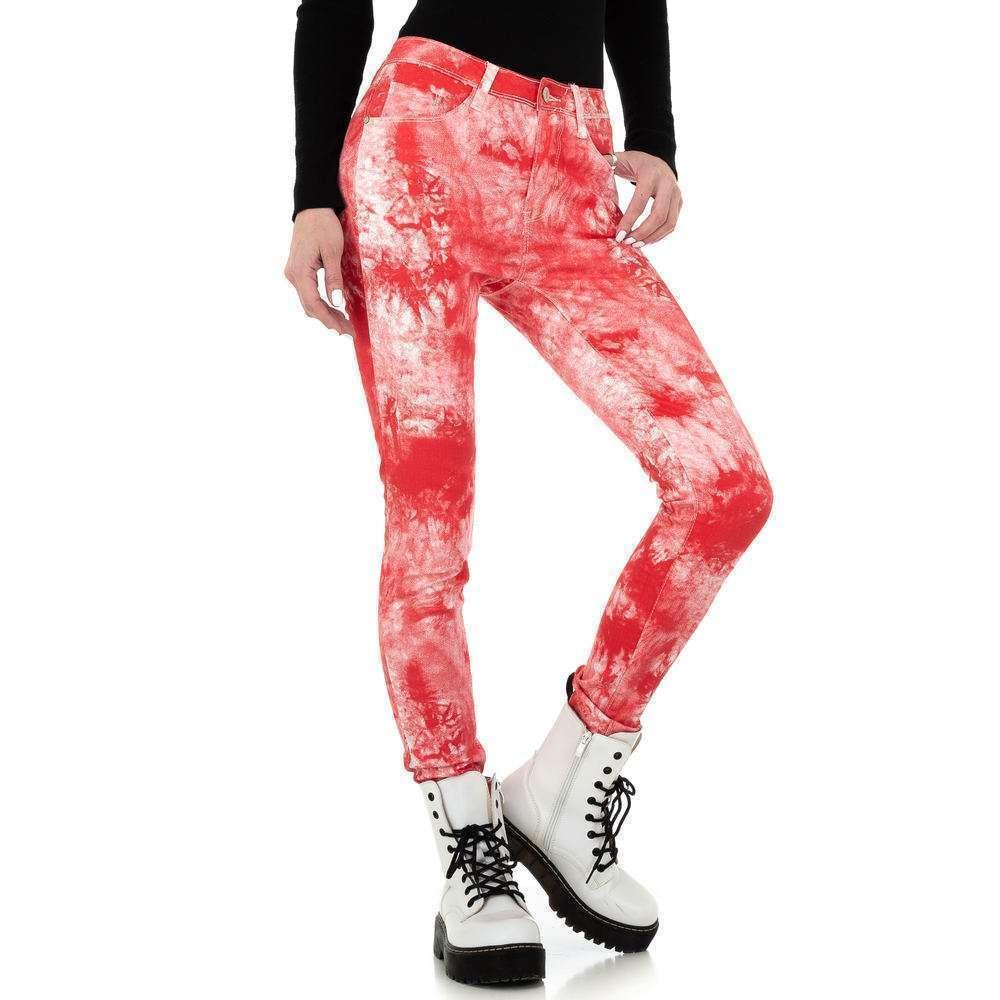 Blugi skinny pentru femei de la Redial Denim Paris - roșu - image 1